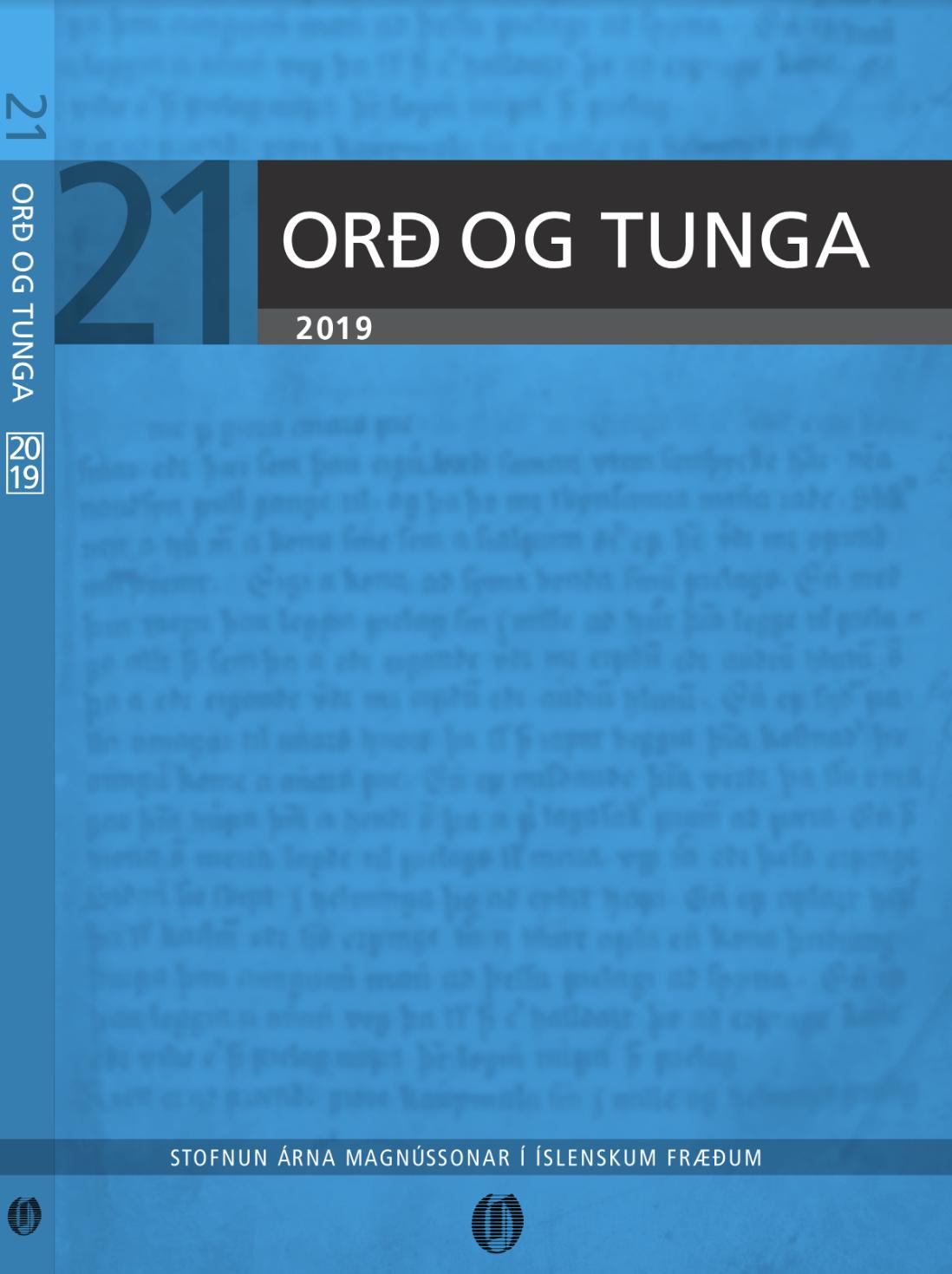 Orð og tunga 21